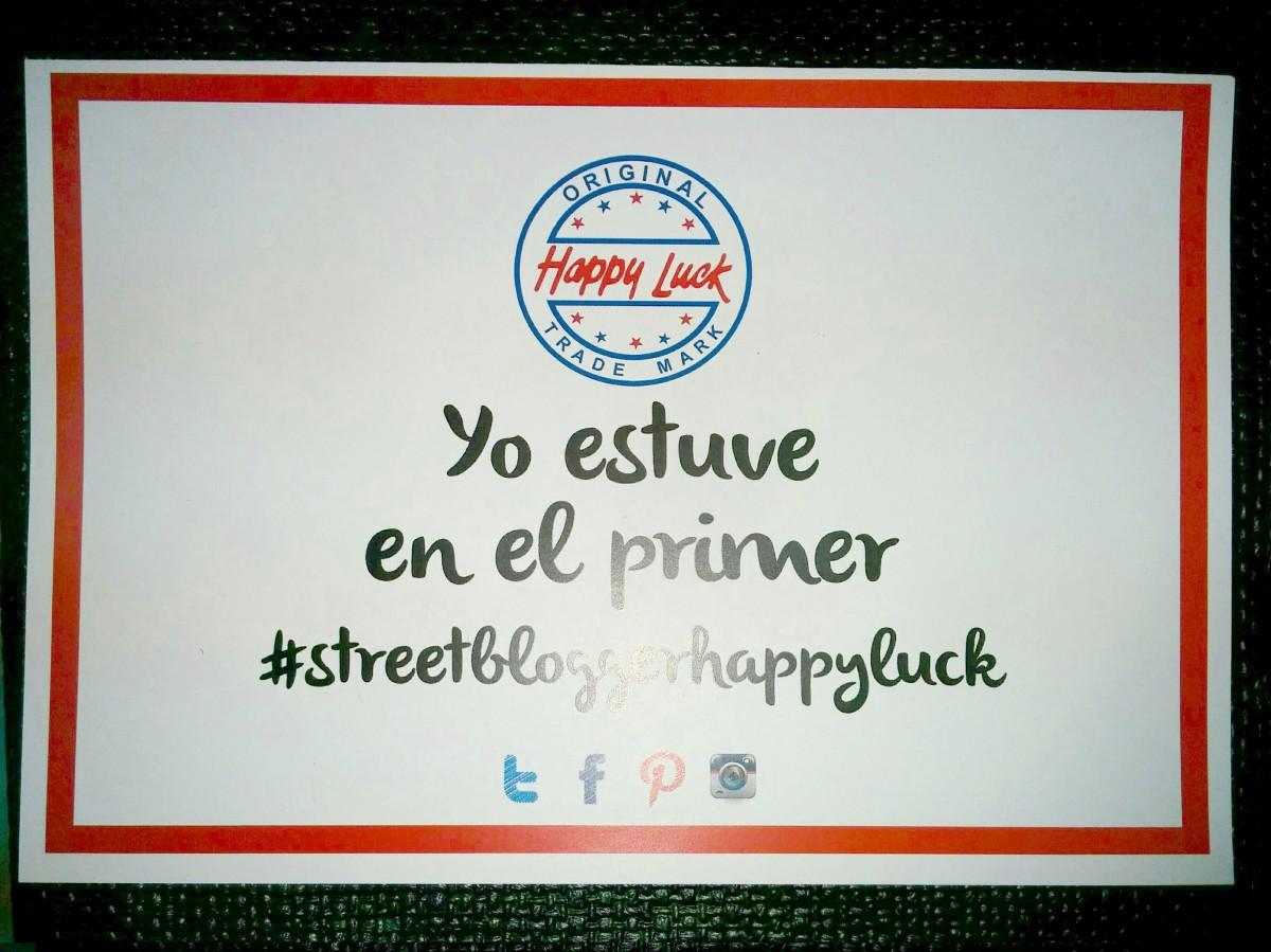 Primer #StreetBloggerHappyLuck